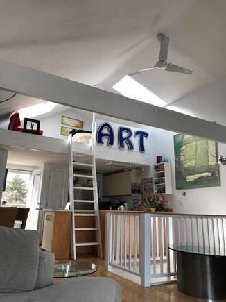 Provincetown Cape Cod vacation rental - Lofted living room provides plenty of light.