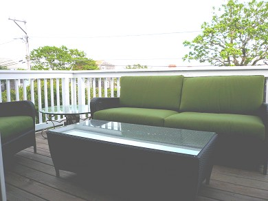 Provincetown Cape Cod vacation rental - Front Deck to enjoy the bay views or Commercial St