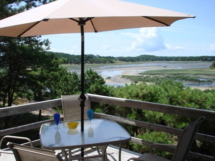 Wellfleet Cape Cod vacation rental - Private back deck over looking tidal water