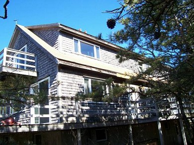 Wellfleet Cape Cod vacation rental - Side of home showing deck areas for relaxing & sunning
