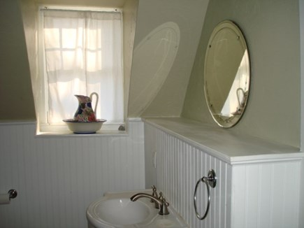 Wellfleet Cape Cod vacation rental - Upstairs walk thru bath room with tub.