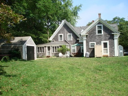 Wellfleet Cape Cod vacation rental - Backside of home. Large yard and quite private for an in town.