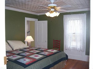 Wellfleet Cape Cod vacation rental - First floor bedroom with a King bed freshly painted & decorated