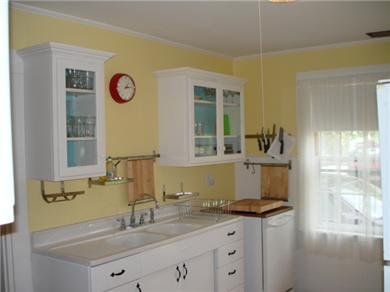 Wellfleet Cape Cod vacation rental - One of the two kitchens, this one has a door to patio