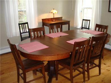 Wellfleet Cape Cod vacation rental - Dining room to eat together, then do puzzles on the table