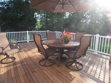 Barnstable Cape Cod vacation rental - Large Deck w/Two Dining Tables & Two Loungers