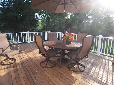 Barnstable Cape Cod vacation rental - Large Deck overlooking Backyard
