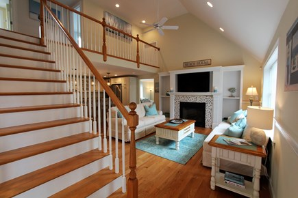 Barnstable Cape Cod vacation rental - Open Floor Plan, Hardwood, Cathedraled Living Rm w/Gas Fireplace