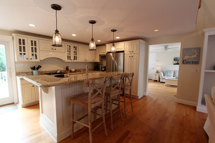 Barnstable Cape Cod vacation rental - Eat-In Kitchen w/Breakfast Bar, Stainless/Granite & Dining Area