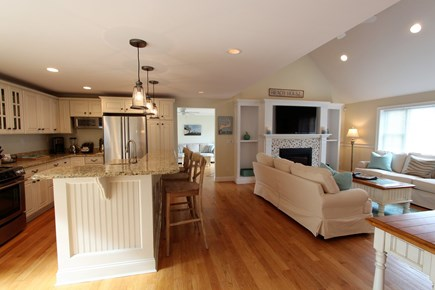 Barnstable Cape Cod vacation rental - Kitchen/Living area