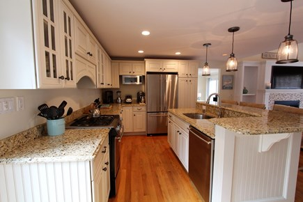 Barnstable Cape Cod vacation rental - Cook's Kitchen, Gas Range, Granite, Eat-Up Counter/Dining Area