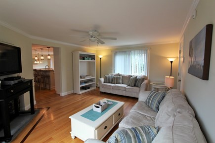 Barnstable Cape Cod vacation rental - Family Room w/two sliders/decks, Flatscreen.