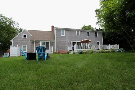 Barnstable Cape Cod vacation rental - Large, Fenced Yard w/Gas Firepit, Outdoor Shower & Mahogany Deck