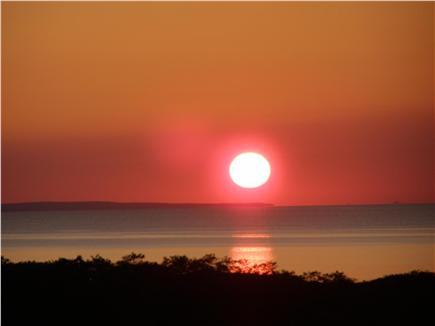 Wellfleet (National Seashore) Cape Cod vacation rental - Sunset viewed from the house