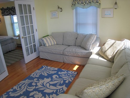 New Seabury New Seabury vacation rental - Den with sleep sofa and adjoining downstairs bedroom