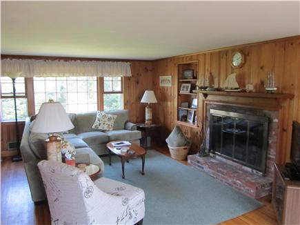 Eastham Cape Cod vacation rental - Large Living Room w/entertainmenet center .  Open Vista Views