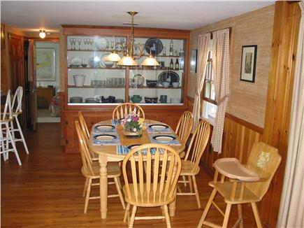 Eastham Cape Cod vacation rental - Open air conditioned dining room seats 8 to 9. High Chair too