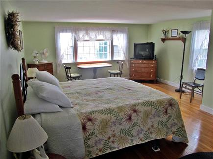 Eastham Cape Cod vacation rental - Large Master Bedroom facing the pond (12ft x 24ft). King Bed