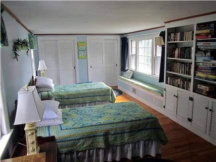 Eastham Cape Cod vacation rental - Blue Room with Twin beds, Crib and a Library (11ft x 22ft)