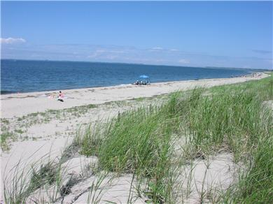 Fisher Beach, Truro, Cape Cod Cape Cod vacation rental - Private Beach with view looking N. to jetty  and across to P'town
