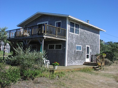 Next to Fisher Beach, Truro, C Cape Cod vacation rental - Upside Down Home with private bayside beach.