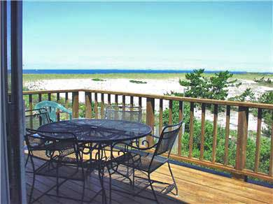 Next to Fisher Beach, Truro, C Cape Cod vacation rental - Deck off Living Area with views of p-r