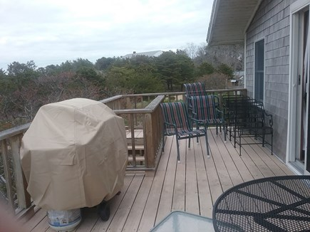 Next to Fisher Beach, Truro, C Cape Cod vacation rental - Large deck with two tables for outside dining.