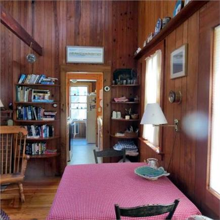 Brewster Cape Cod vacation rental - Dining area looking to kitchen and laundry/pantry