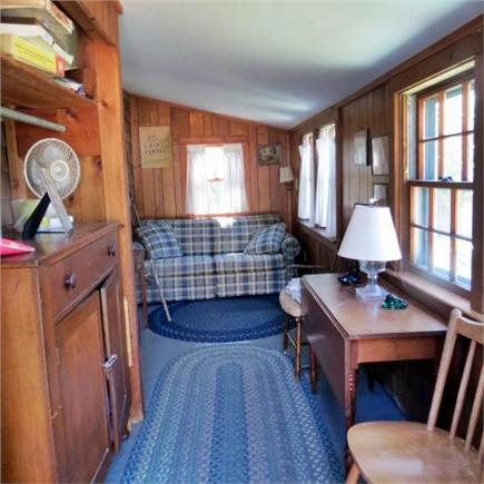 Brewster Cape Cod vacation rental - Front enclosed porch with hideabed sofa