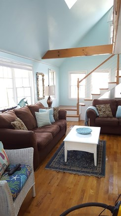 West Yarmouth Cape Cod vacation rental - Living room with Cathedral Ceiling