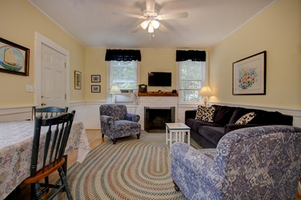 Hyannisport Cape Cod vacation rental - Living Room with fireplace. A great family gathering space.