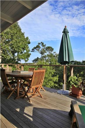 Provincetown Cape Cod vacation rental - Deck sunshine with views of the town and Monument