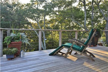 Provincetown Cape Cod vacation rental - Deck facing north...good reading light