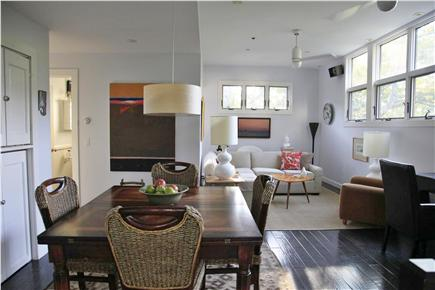 Provincetown Cape Cod vacation rental - Living room area with high ceilings