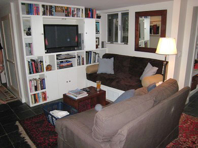Provincetown Cape Cod vacation rental - Den with 42'' Plasma TV, surround sound, and hundreds of dvd's