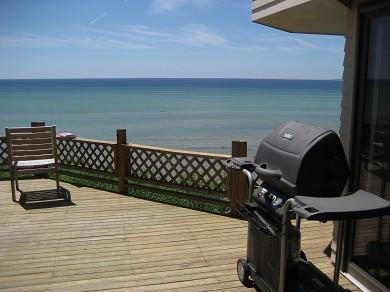 North Truro Cape Cod vacation rental - Expansive deck with grill