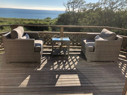 North Truro Cape Cod vacation rental - deck off great room