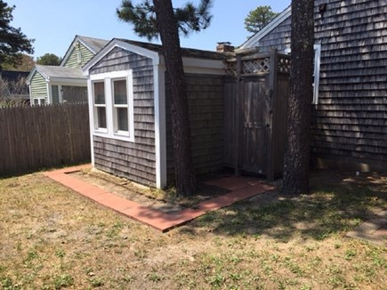 Dennis Port Cape Cod vacation rental - Side Yard with enclosed shower