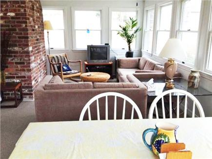 Harwich Cape Cod vacation rental - Large sunroom with plenty of light and seating!