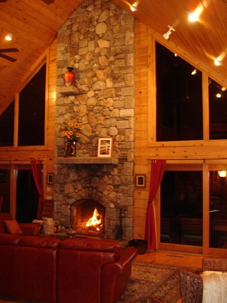 Provincetown Cape Cod vacation rental - The glorious fireplace. The wood pile is well stocked.