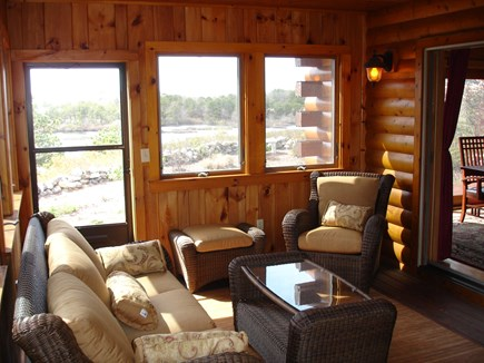 Provincetown Cape Cod vacation rental - Three season porch off main floor great room.