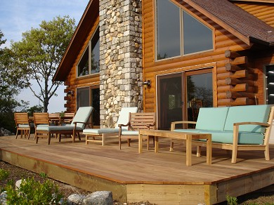 Provincetown Cape Cod vacation rental - The large deck for alfresco dining and sunning.
