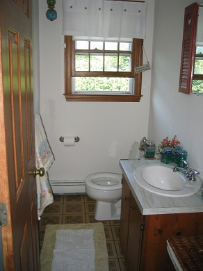 Sandwich, Town Neck Beach and Boardwalk Cape Cod vacation rental - Half Bath on first floor