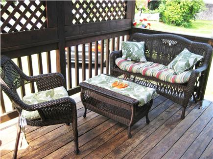 Sandwich, Town Neck Beach and Boardwalk Cape Cod vacation rental - Lower Deck with side enterance