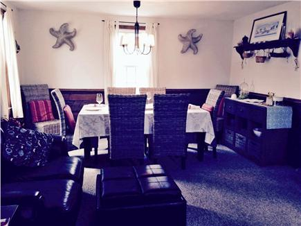 Sandwich, Town Neck Beach and Boardwalk Cape Cod vacation rental - Glimpse at the Living and Dining area