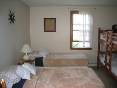 Sandwich, Town Neck Beach and Boardwalk Cape Cod vacation rental - Twin bedroom with bunkbed