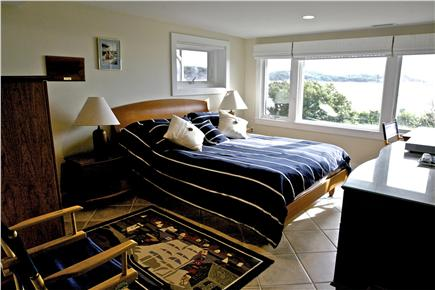 Chequessett Neck Wellfleet Cape Cod vacation rental - Master bedroom with desk, and private bath