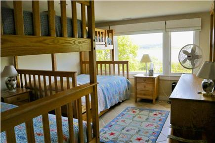 Chequessett Neck Wellfleet Cape Cod vacation rental - 2nd Bedroom  has 3 extra long twin beds and an extra long full