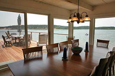 Chequessett Neck Wellfleet Cape Cod vacation rental - Enjoy waterfront dining inside or out