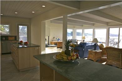 Chequessett Neck Wellfleet Cape Cod vacation rental - Gas grill on deck off  gourmet kitchen